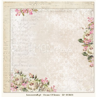 Double sided scrapbooking paper - Houses Of Roses 03