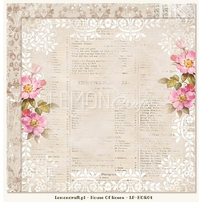 Double sided scrapbooking paper - Houses Of Roses 04