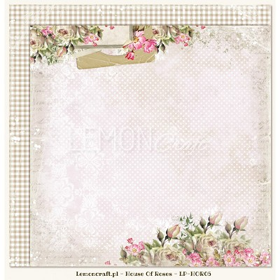 Double sided scrapbooking paper - Houses Of Roses 05