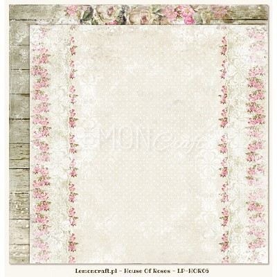 Double sided scrapbooking paper - Houses Of Roses 06