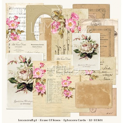 House Of Roses - Ephemera cards