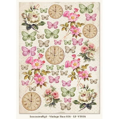 One-sided scrapbooking paper - Vintage Time 008