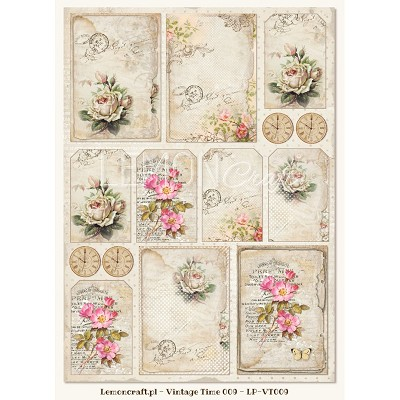One-sided scrapbooking paper - Vintage Time 009