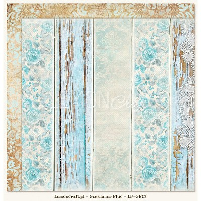Double sided scrapbooking paper - Gossamer Blue 02  -  new collection