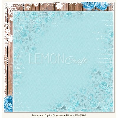 Double sided scrapbooking paper - Gossamer Blue 05  -  new collection