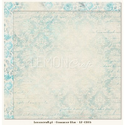 Double sided scrapbooking paper - Gossamer Blue 06  -  new collection