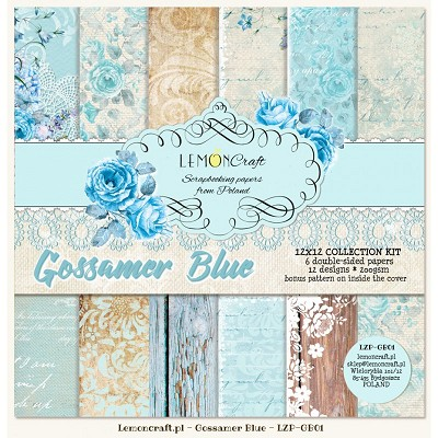 Set of scrapbooking papers - Gossamer Blue-  new collection