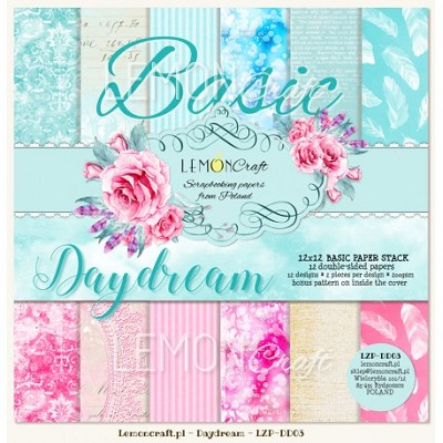 Stack of basic scrapbooking papers - Daydream  12 x12