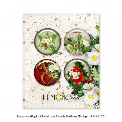 Lemoncraft Christmas Carols Buttons / Badges LD-CHC01