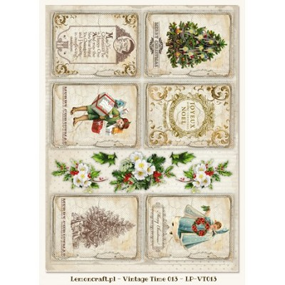 Lemoncraft One-sided scrapbooking paper - Vintage Time 013