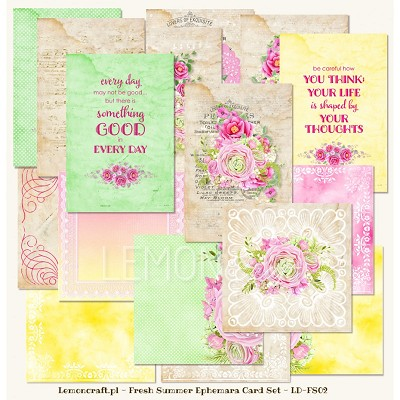 Lemoncraft Fresh Summer - Ephemera cards LD-FS02