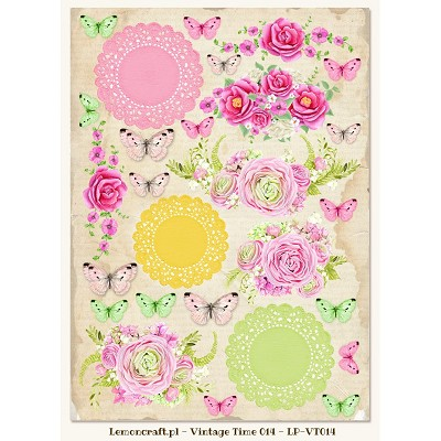 Lemoncraft One-sided scrapbooking paper - Vintage Time 014
