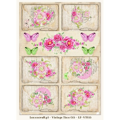 Lemoncraft One-sided scrapbooking paper - Vintage Time 015