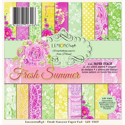 Lemoncraft scrapbooking papers - Fresh Summer 6x6