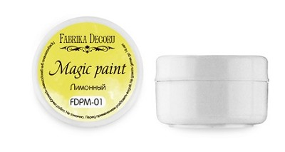 "Fabrika Decoru - Dry paint ""Magic paint"" color ""Lemon"", 15ml"