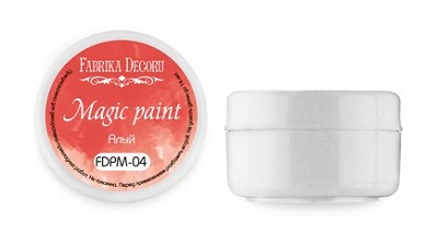 "Fabrika Decoru - Dry paint ""Magic paint"" color ""Scarlett"", 15ml"