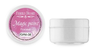 "Fabrika Decoru - Dry paint ""Magic paint"" color ""Pink"", 15ml"