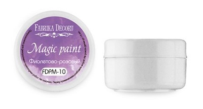 "Fabrika Decoru - Dry paint ""Magic paint"" color ""Violet-Pink"", 15ml"