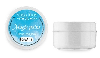 Fabrika Decoru - Dry paint Magic paint color Bright blue 15ml