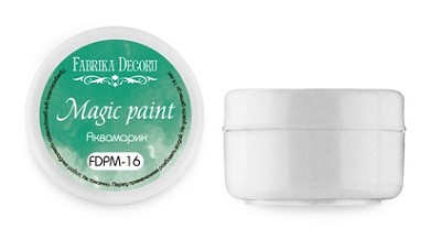 Fabrika Decoru - Dry paint Magic paint color Aquamarine 15ml