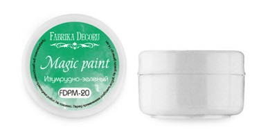 Fabrika Decoru - Dry paint Magic paint color Emerald green, 15ml