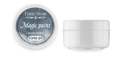 Fabrika Decoru - Dry paint Magic paint color Gray payne, 15ml