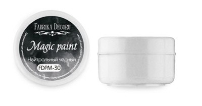 Fabrika Decoru - Dry paint Magic paint color Neutral black, 15ml