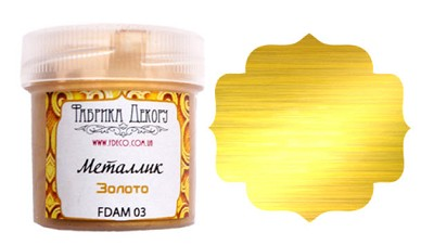 Fabrika Decoru - Metallic paint. Color Gold