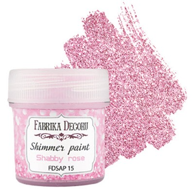 Fabrika Decoru - Shimmer paint. Color Shabby rose