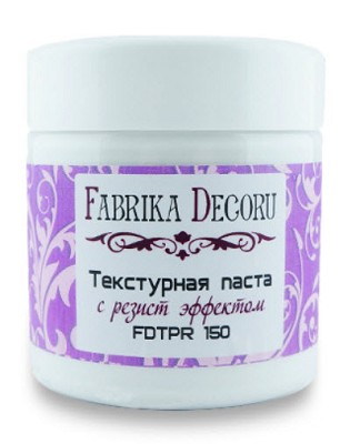 Fabrika Decoru - Texture paste with resist effect