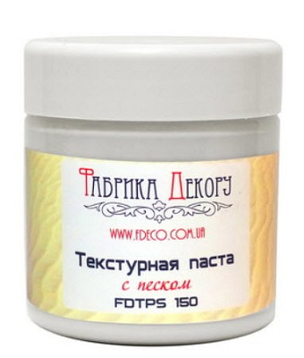 Fabrika Decoru - White texture paste with sand