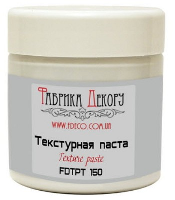 Fabrika Decoru - White texture paste