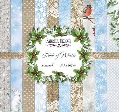 Fabrika Decoru - Smile of Winter Paperpad  12 x 12 inch