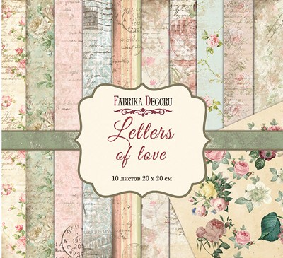 Fabrika Decoru - Letters of Love Paperpad  8 x 8 inch