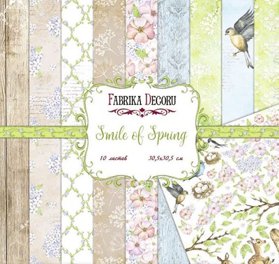 Fabrika Decoru - Smile of Spring Paperpad  12 x 12 inch