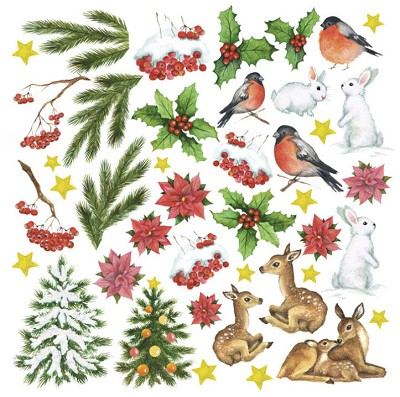 Fabrika Decoru - Paper with cards for cutting Set Smile of winter 12 x 12 inch