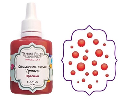 Fabrika Decoru - Liquid glass drops, color Red