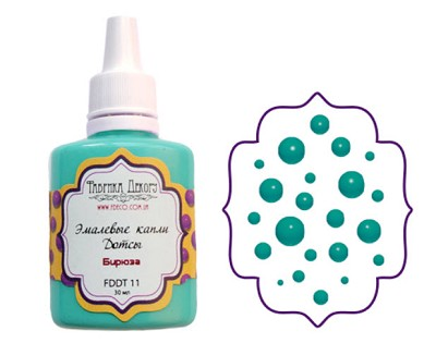 Fabrika Decoru - Liquid enamel dots - color Turqouise