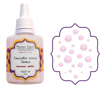Fabrika Decoru - Liquid enamel dots - color Gentle shabby
