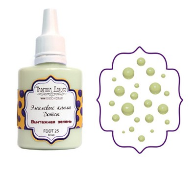 Fabrika Decoru - Liquid enamel dots - color Vintage green