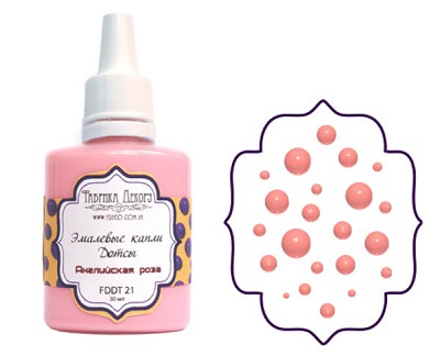 Fabrika Decoru - Liquid enamel dots - color English rose