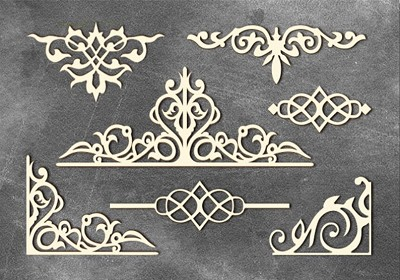 Fabrika Decoru - Chipboards set Monograms 2