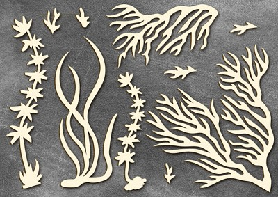 Fabrika Decoru - Chipboards set Marine life 3