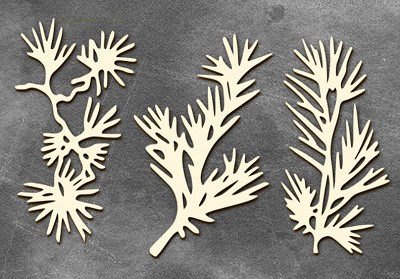 Fabrika Decoru - Chipboards set Conifer twigs