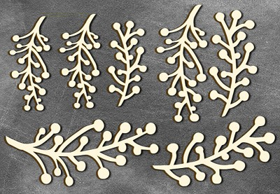 Fabrika Decoru - Chipboards set  Twigs maxi