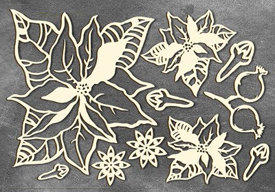 Fabrika Decoru - Chipboards set Botany winter 2