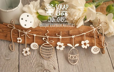 Chipboard Easter garland Hh-049