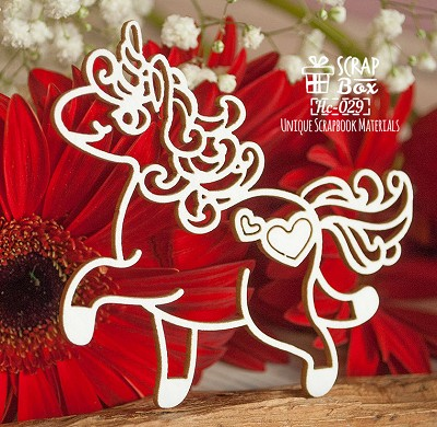 Chipboard unicorn Hc-029