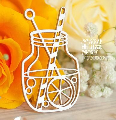 Chipboard jar with a cocktail Hk-009