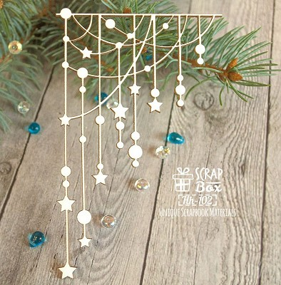 Chipboard Christmas garland corner Hh-102